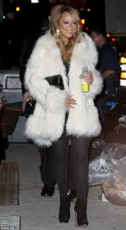 Careys Fur Coat Is Lost In The Mail by Photos Looking Festive And Cheerful