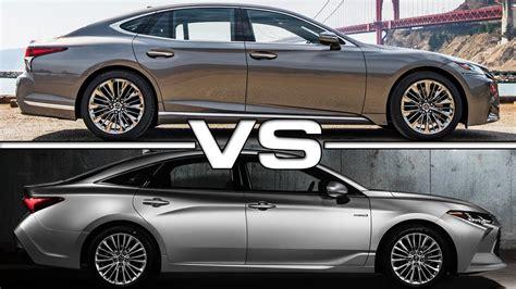 Lexus Es 2019 Vs 2018 by Compare Toyota Avalon To Lexus Es 350 Motavera