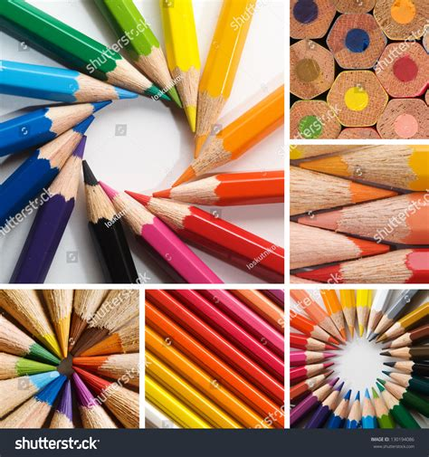 colorful pencils and office supplies collage stock photo color pencils collage stock photo 130194086 shutterstock