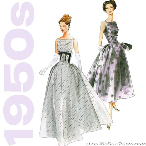 dress pattern vintage vogue vintage vogue 8874 1950s dress sewing pattern wesewretro