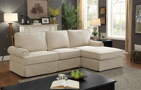 beige sectional with chaise badalona 6377bg beige rolled arm t cushion sectional