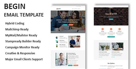 begin multipurpose responsive email template with