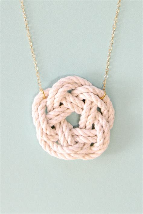 knots for jewelry nautical jewelry sailor knot necklace nautical necklace