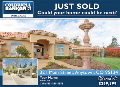 Coldwell Banker Eddm Just Sold Template 3 Cheap Price Just Sold Postcard Templates Free
