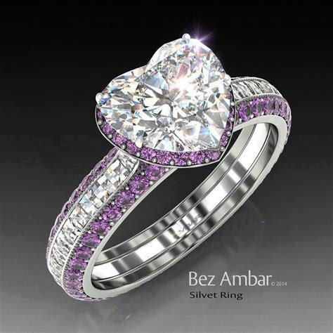 25  best ideas about Amethyst engagement rings on