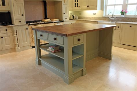 hand painted kitchen island bespoke kitchens fitted