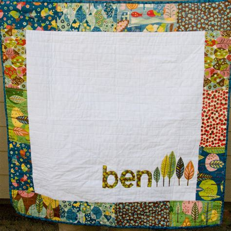 Personalised Baby Quilt by His Hers Personalized Baby Quilts 171 Moda Bake Shop