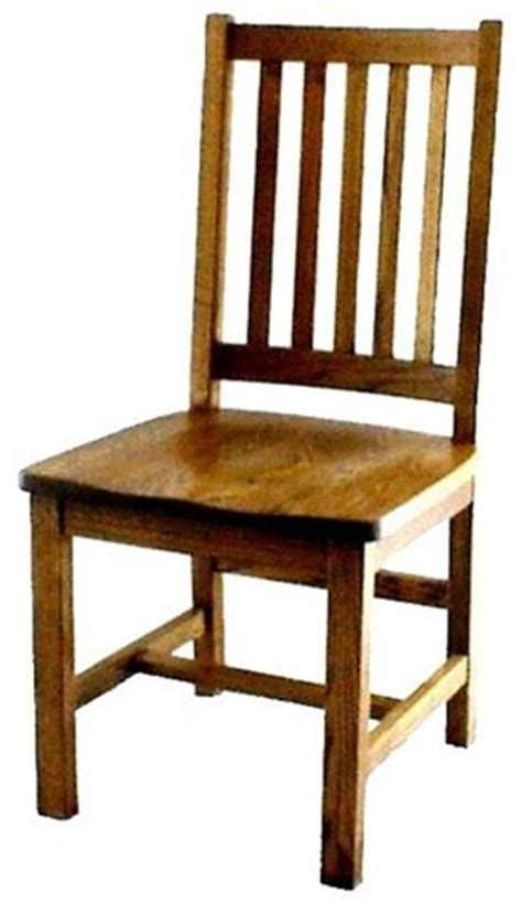 Wood Dining Room Chair by Amish Mission Schoolhouse Dining Room Chair