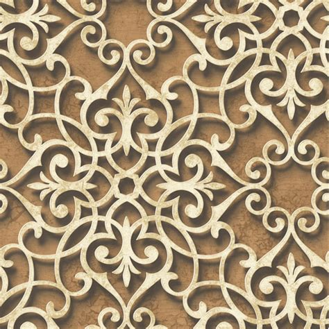 lace medallion wallpaper  wallquest lelands wallpaper