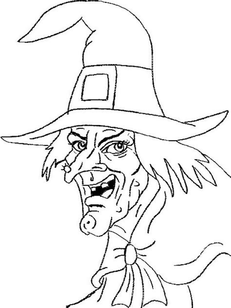 scary witch s head coloring pages hellokids com