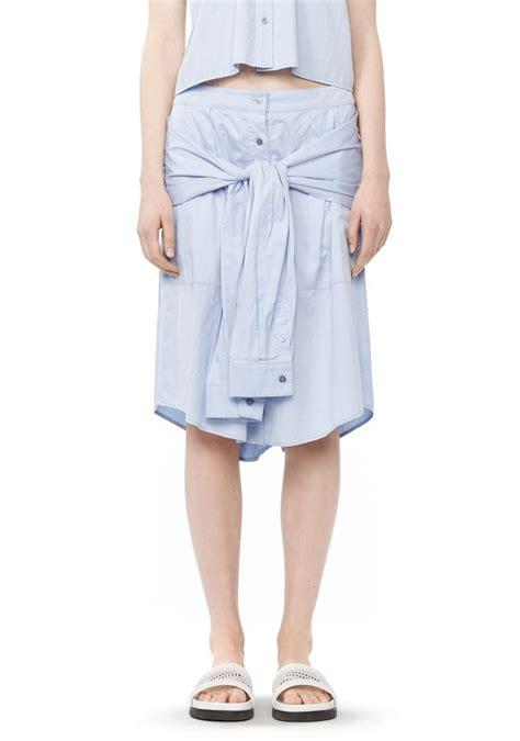 Strapped Skirt cotton poplin sleeve skirt skirt wang official site