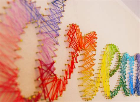 String Crafts - craft of the day decorate your walls with personalized