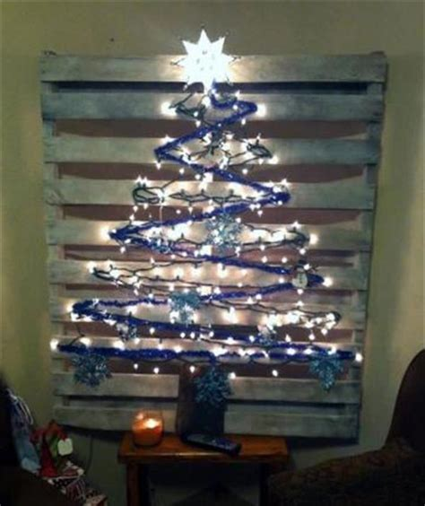 christmas decorations made from wood pallets diy pallet tree with lights concepts pallets designs