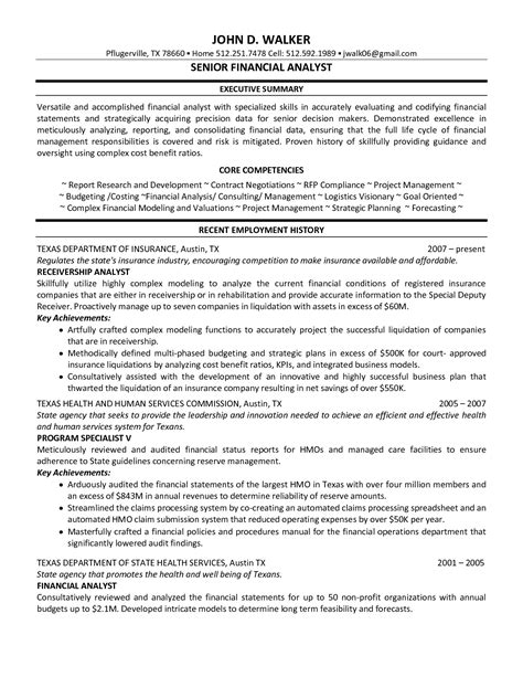 financial analyst resume format senior financial analyst resume the best resume