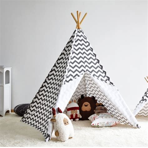 kids teepee aliexpress com buy zigzag stripe indian kids teepee tent