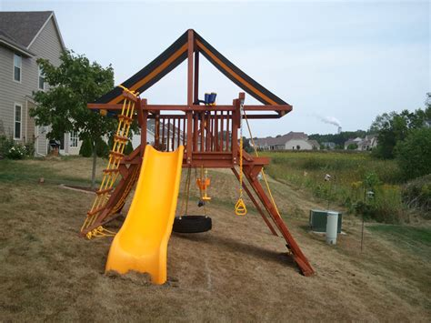 how to level yard for swing set playground equipment madison wi m class playsets playn