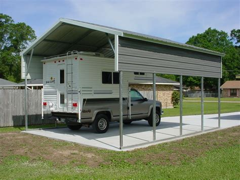 rv carports rv metal buildings steel building garages - Carport Wohnmobil