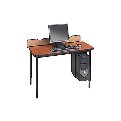 Office Depot Laptop Desk Bretford Quattro Voltea Qft2430 Computer Desk By Office Depot Officemax