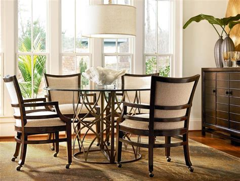dining room sets with chairs on casters dining room chairs with casters and arms alliancemv