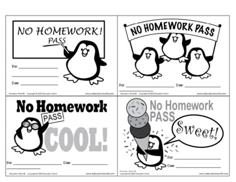 http www educationworld tools templates trading card doc no homework pass template education world