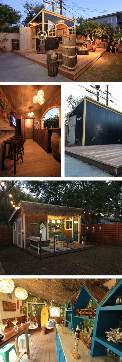 turn  tuff shed   bar  hangout   backyard