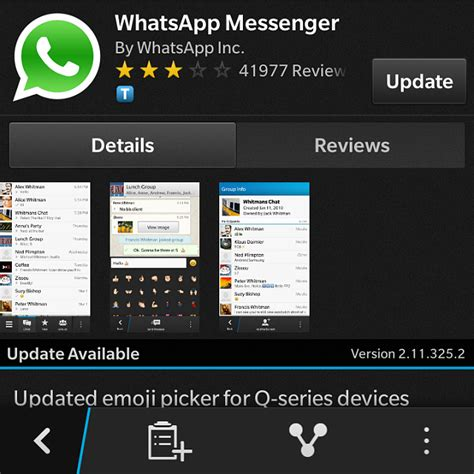 Bb Update by New Whatsapp Update Blackberry Forums At Crackberry