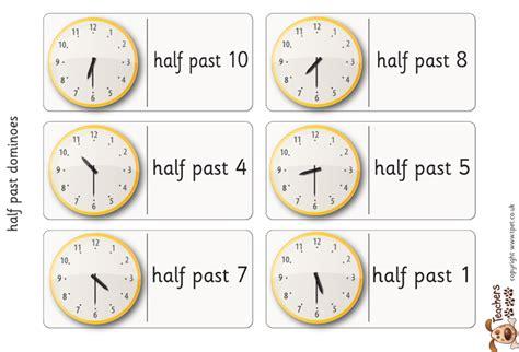 printable clock dominoes time worksheet new 807 time worksheets half past