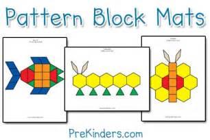 Pattern Block Templates Free Printable by Pattern Block Mats Prekinders