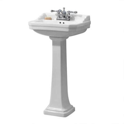 1920 pedestal combo bathroom sink in white fl 1920 4w the home depot