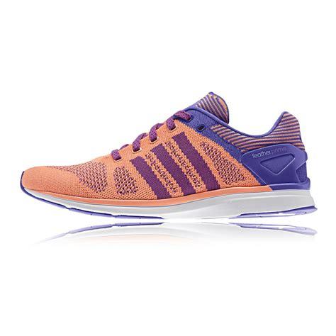 orange athletic shoes adidas feather prime womens orange cushion road running