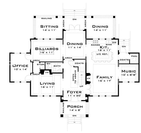 large family home plans for the large family 44040td architectural designs