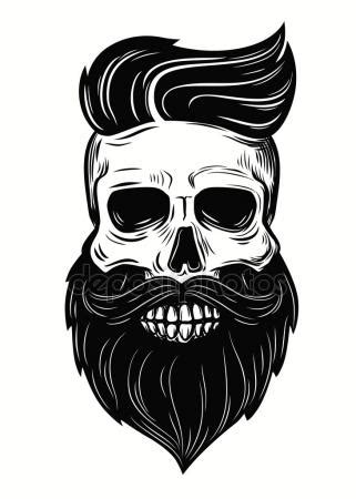 Imagenes De Calaveras Uñas | calavera con barba im 225 genes vectoriales ilustraciones