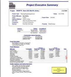 best photos of executive project summary report project