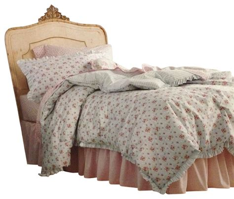 shabby chic twin comforter set blue flowers bedding
