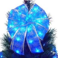 lighted bow christmas tree topper