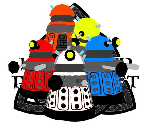 Dalek Papercraft - doctor who chibi dalek papercraft 5 colors by
