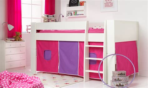 Tent For High Sleeper Bed by Solitaire White Midsleeper With Pink Purple Tent