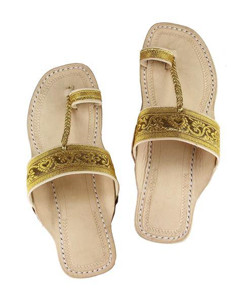 Sandal Belt alluring golden color high heel leather sandal with jari belt and color sole