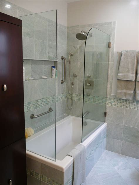 Bathroom With Tub And Shower Tub And Shower Combo Bathroom Traditional With Espresso Stoage Cabinet Glass Beeyoutifullife