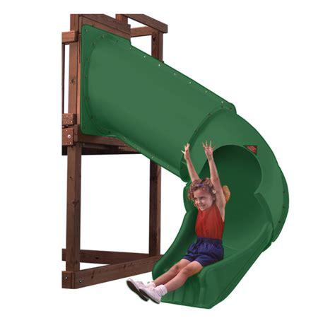 swing n slide tube slide shop swing n slide twister tube green slide at lowes com