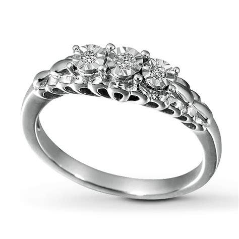Promise Ring Picture Promise Ring 1 15 Ct Tw Cut Sterling