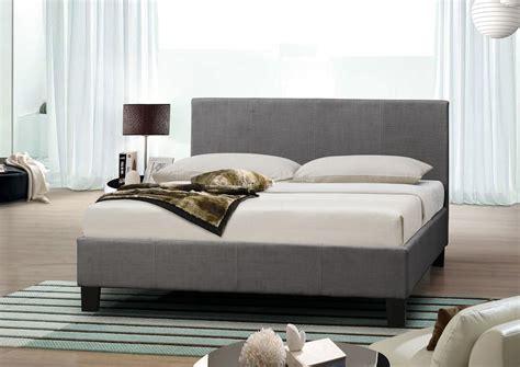grey fabric bed birlea berlin 4ft 6 double fabric bedframe