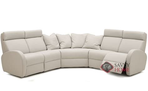 large reclining sectional jasper leather true sectional by palliser is fully