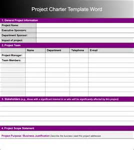 Project Charter Template Word by Project Charter Templates Word And Pdf