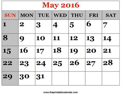 printable schedule may 2016 may 2016 printable calendars