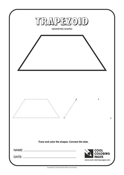 printable shapes trapezoid cool coloring pages geometric shapes cool coloring pages