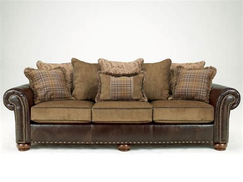 Chenille And Leather Sofa Cordoba Traditional Faux Leather Chenille Sofa Loveseat Set Living Room