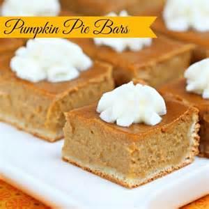 pumpkin pie bars easy recipes pinterest