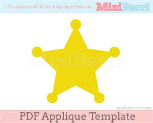 sheriff badge template sheriff badge applique template pdf instant