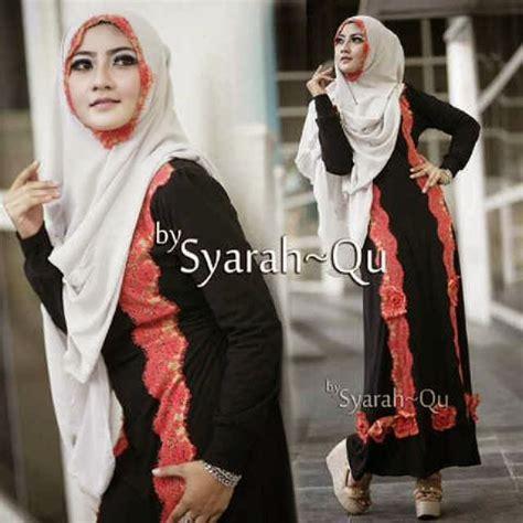 Baju Pesta Muslim Ibu2 model baju gamis ibu2 terbaru syar i syarinda by syarah qu design